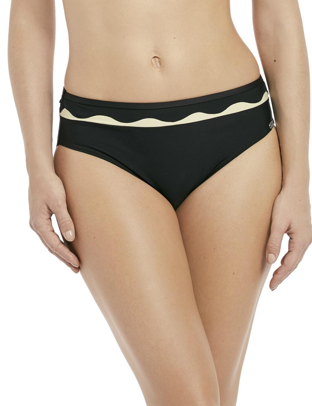 6234 Fantasie Sainte Maxime Mid Rise Bikini Brief - 6234 Black/Cream