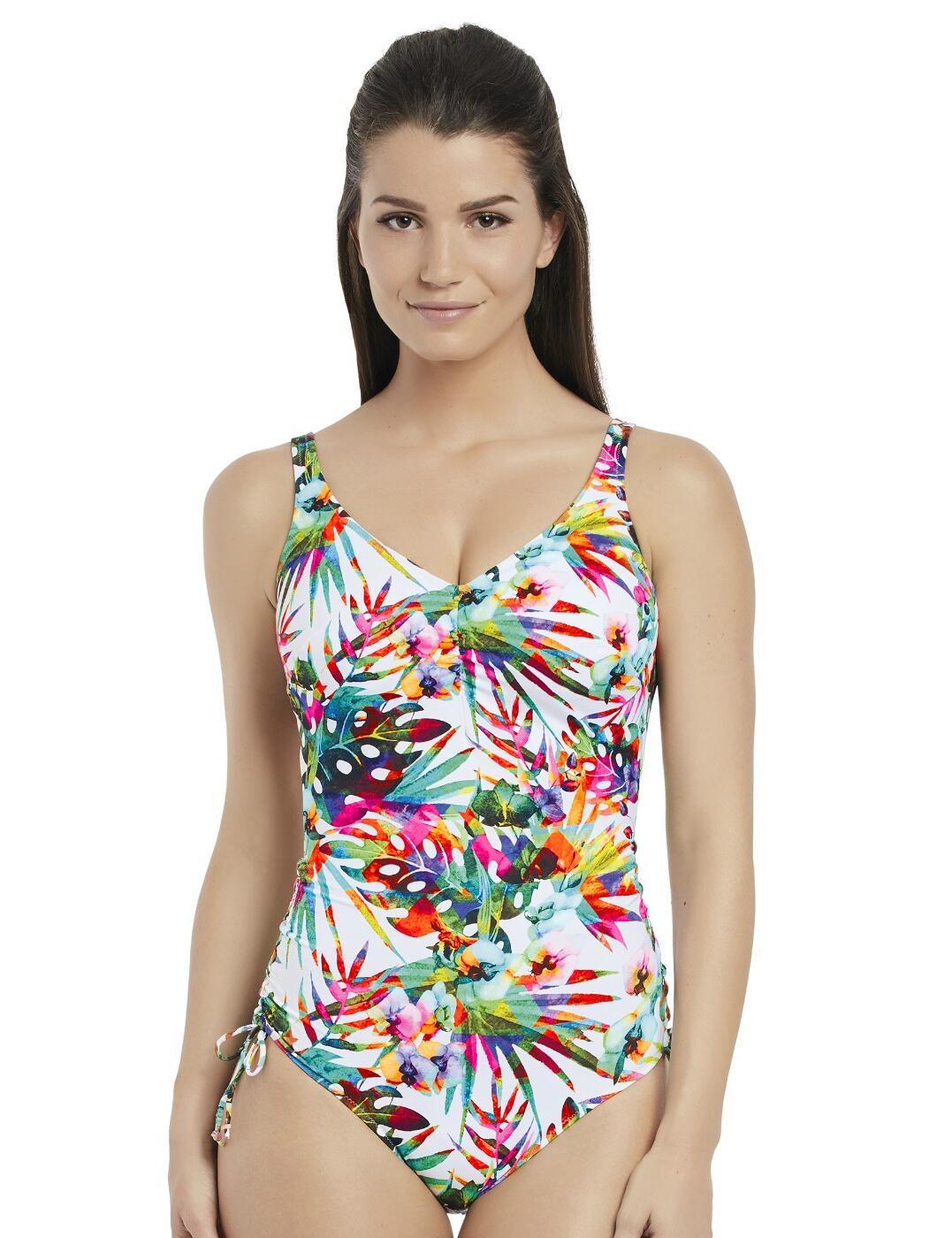 6394 Fantasie Margarita Island V-Neck Suit With Adjustable Legs  - 6394 Multi