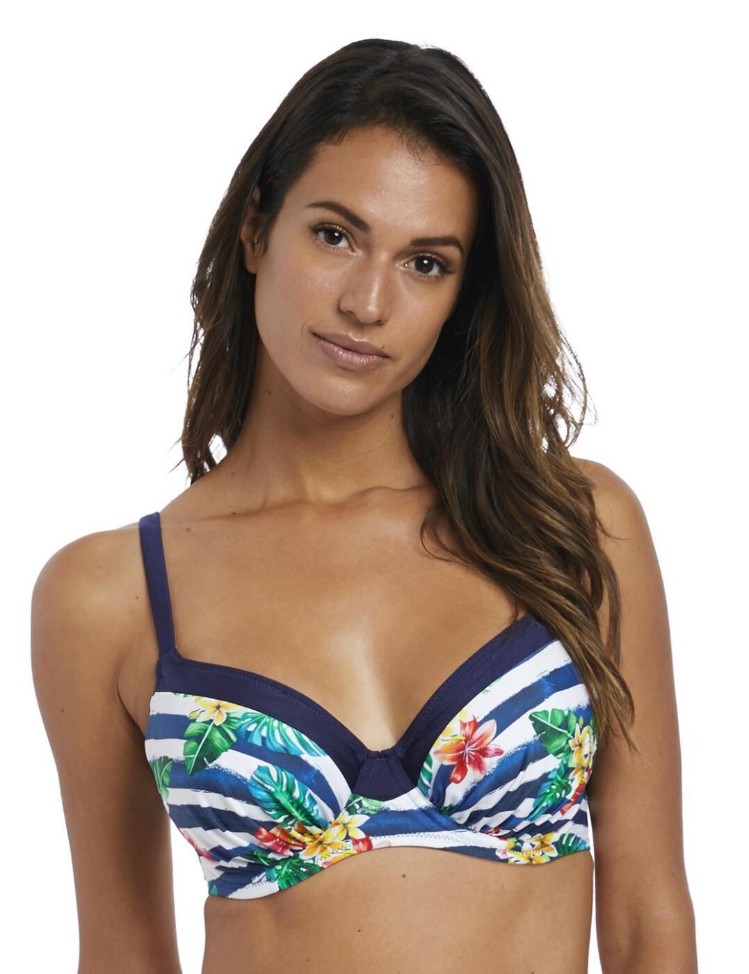 6670 Fantasie Porto Gathered Full Cup Bikini Top - 6670 Twilight