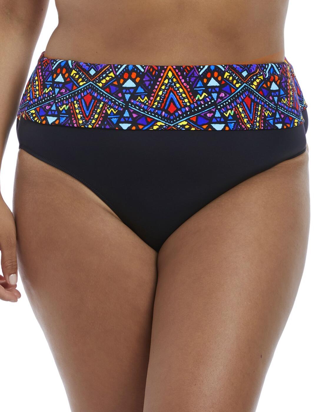 7125 Elomi Aztec Fold Bikini Brief - 7125 Black