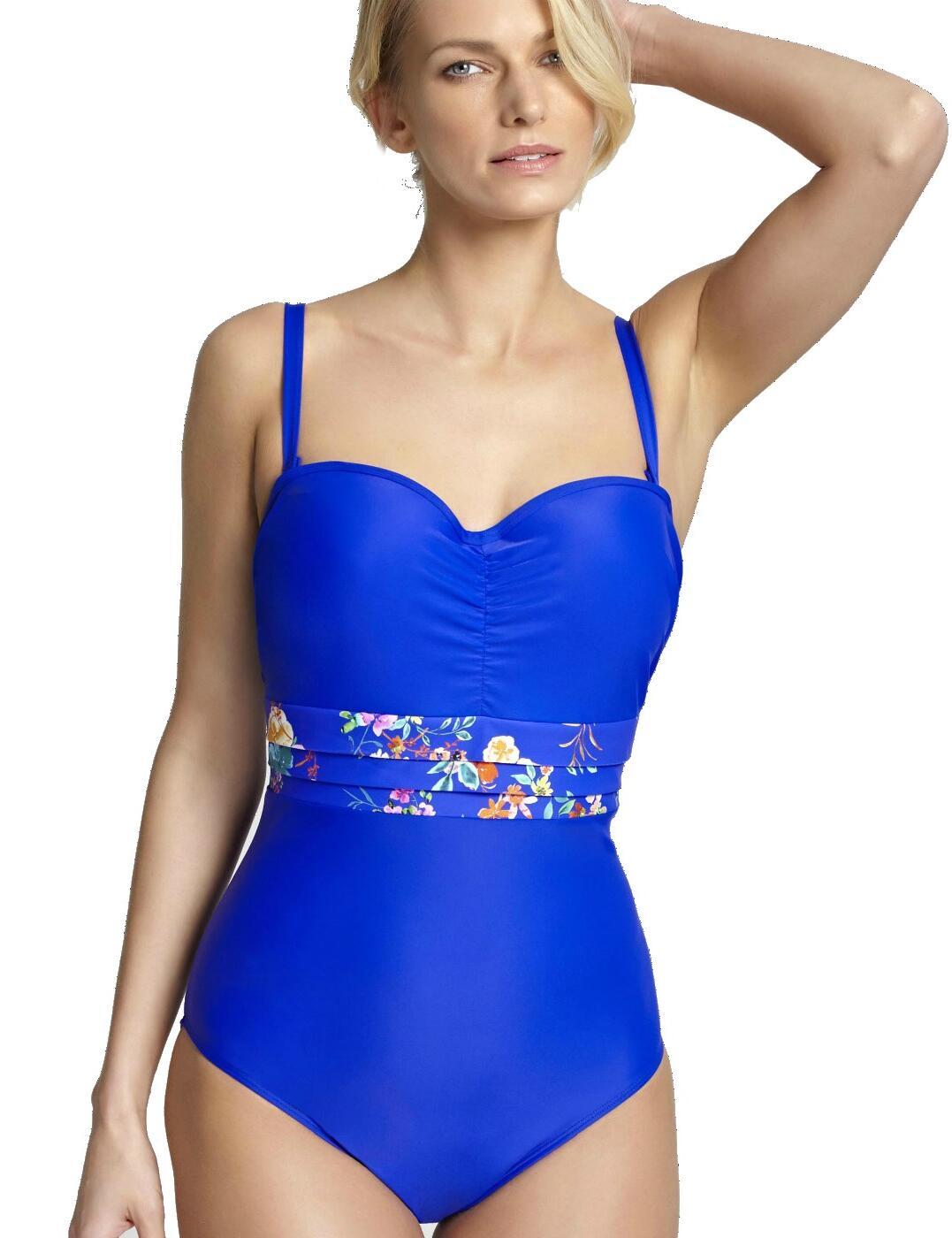 SW1058 Panache Florentine Swimsuit - SW1058 Cobalt/Floral