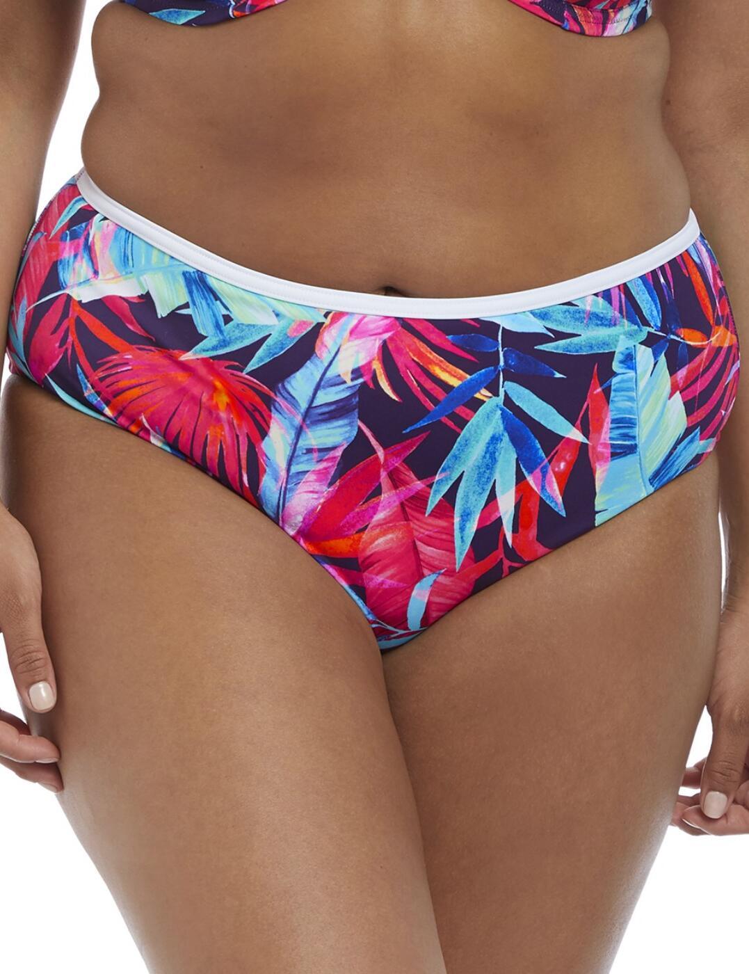 7144 Elomi Paradise Palm Bikini Brief - 7144 Ink