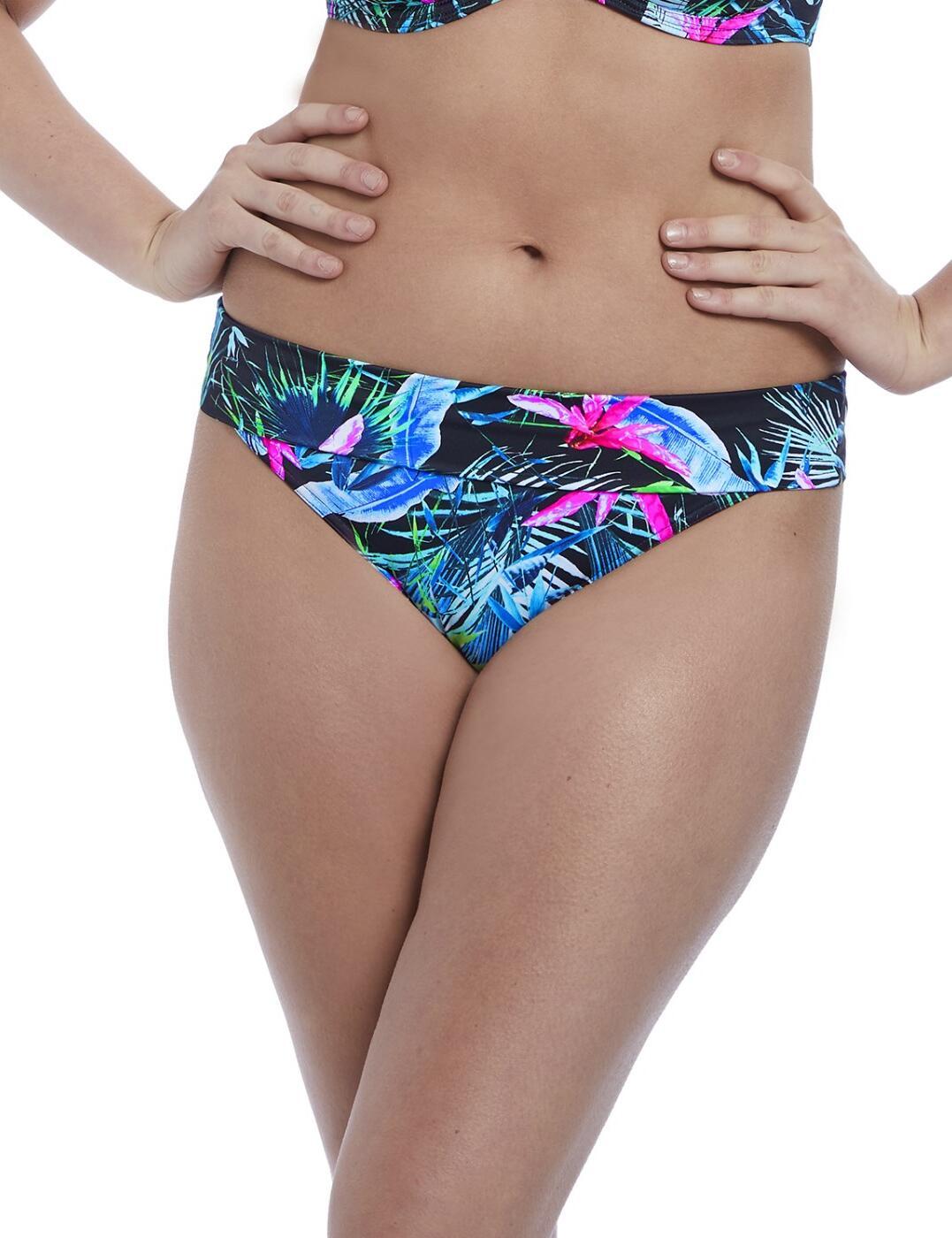 5846 Freya Jungle Flower Fold Brief - 5846 Black Tropical