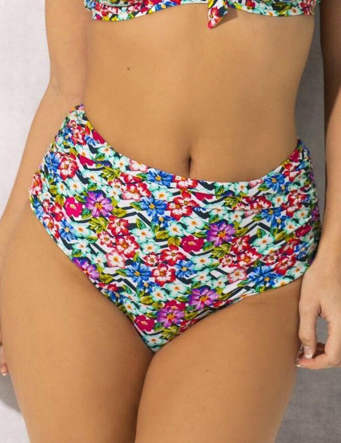 35005 Pour Moi Wonderland Rouched Control Bikini Brief - 35005 Multi