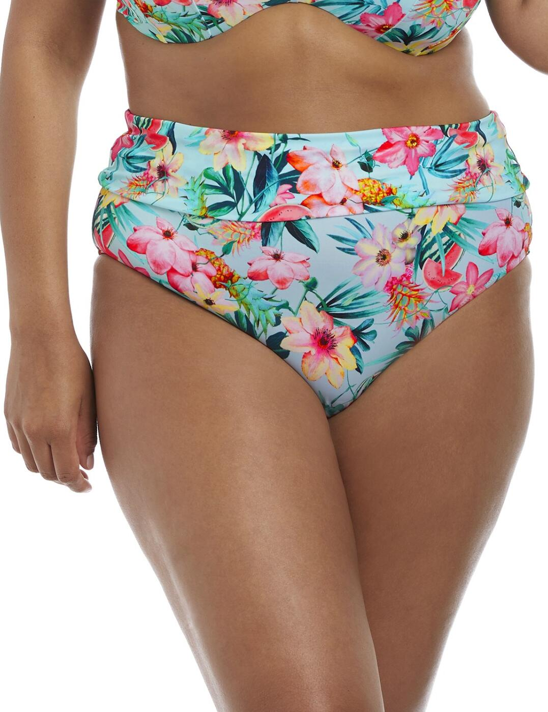 7154 Elomi Aloha Fold Bikini Brief - 7154 Aqua