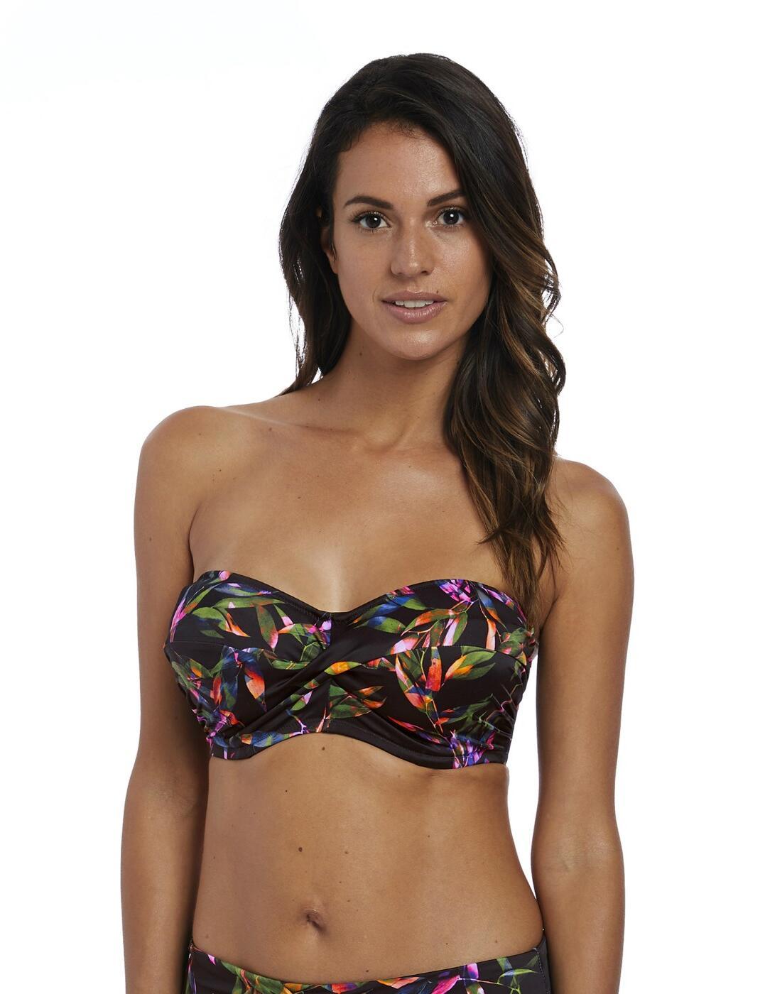 6612 Fantasie Palawan Bandeau Scarf Tie Bikini Top - 6612 Black