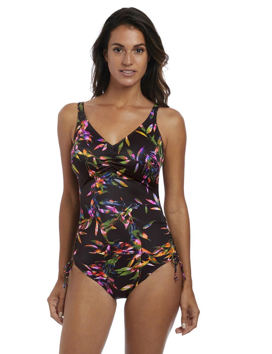 4237b8b1134db Fantasie Palawan Underwired V-Neck Adjustable Leg Swimsuit - Belle Lingerie