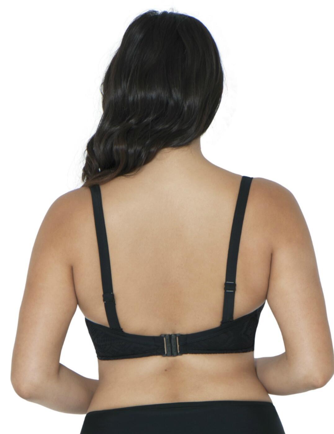 Curvy Kate Swimwear Rush Underwired Padded Plunge Bikini Top Black