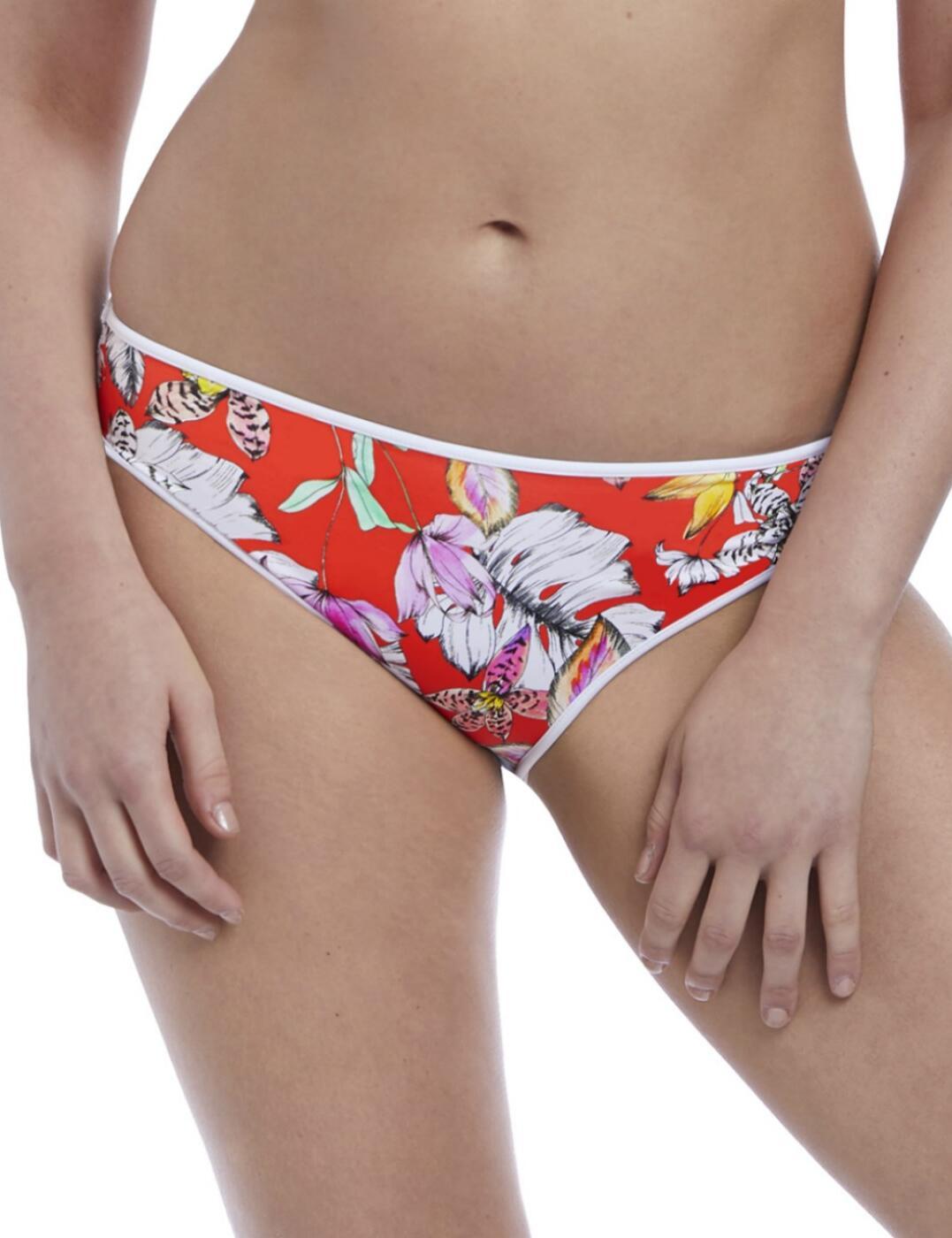 5884 Freya Swim Wild Flower Bikini Brief - 5884 Flame