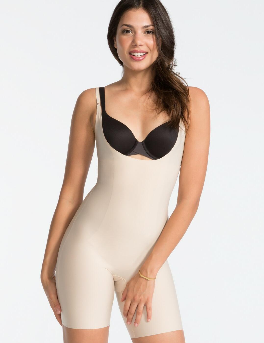 10021R Spanx Thinstincts Open-Bust Mid-Thigh Body - 10021R Soft Nude