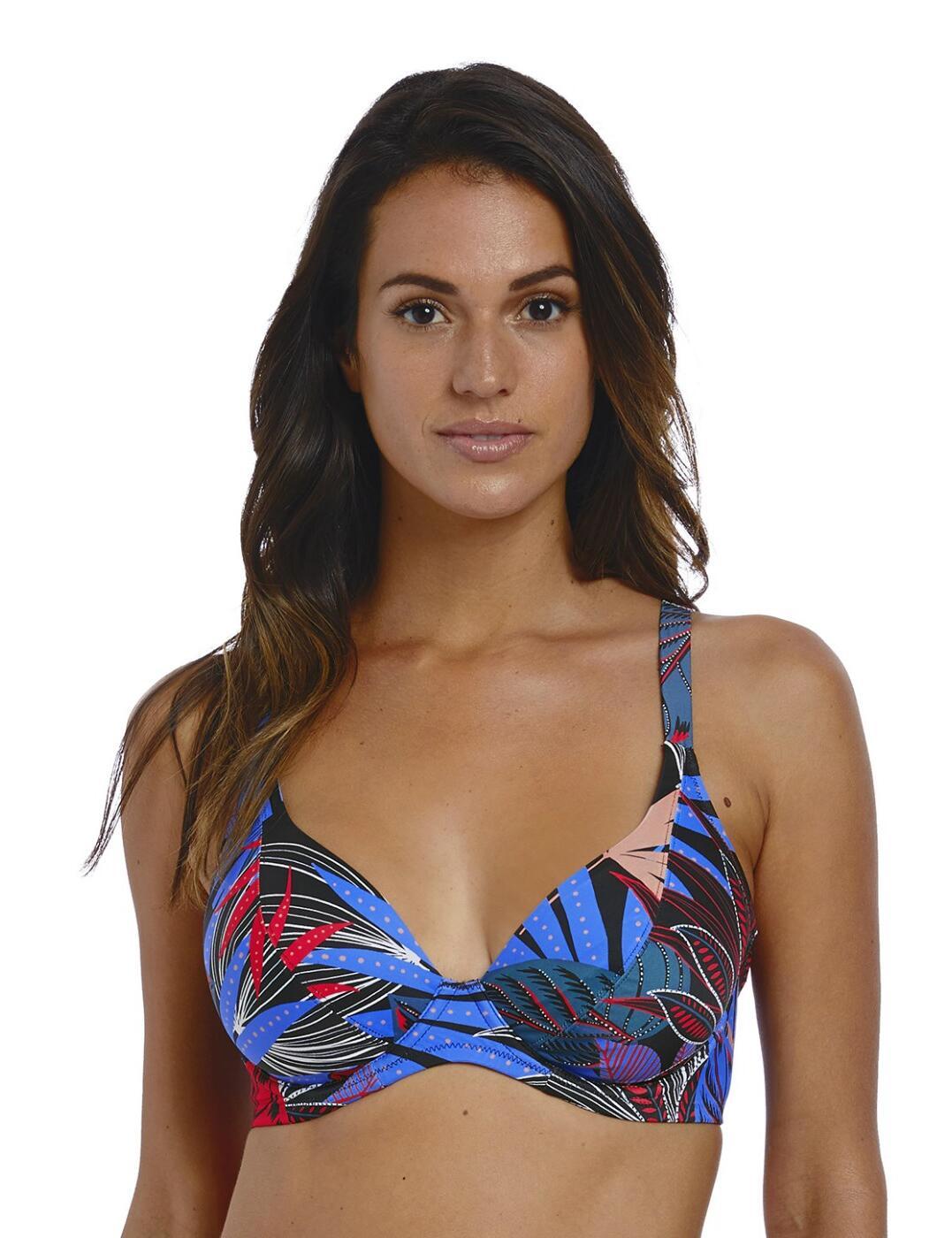 6621 Fantasie Monte Cristi Plunge Bikini Top - 6621 Multi