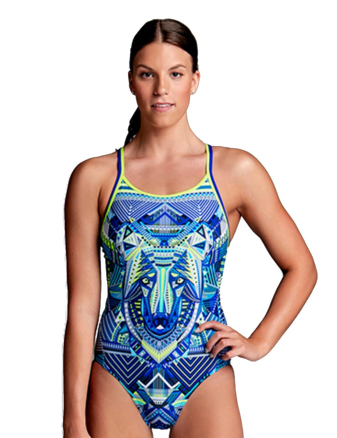 f59a85108f75b Funkita Ladies Sea Wolf Diamond Back One Piece Swimsuit - Belle Lingerie
