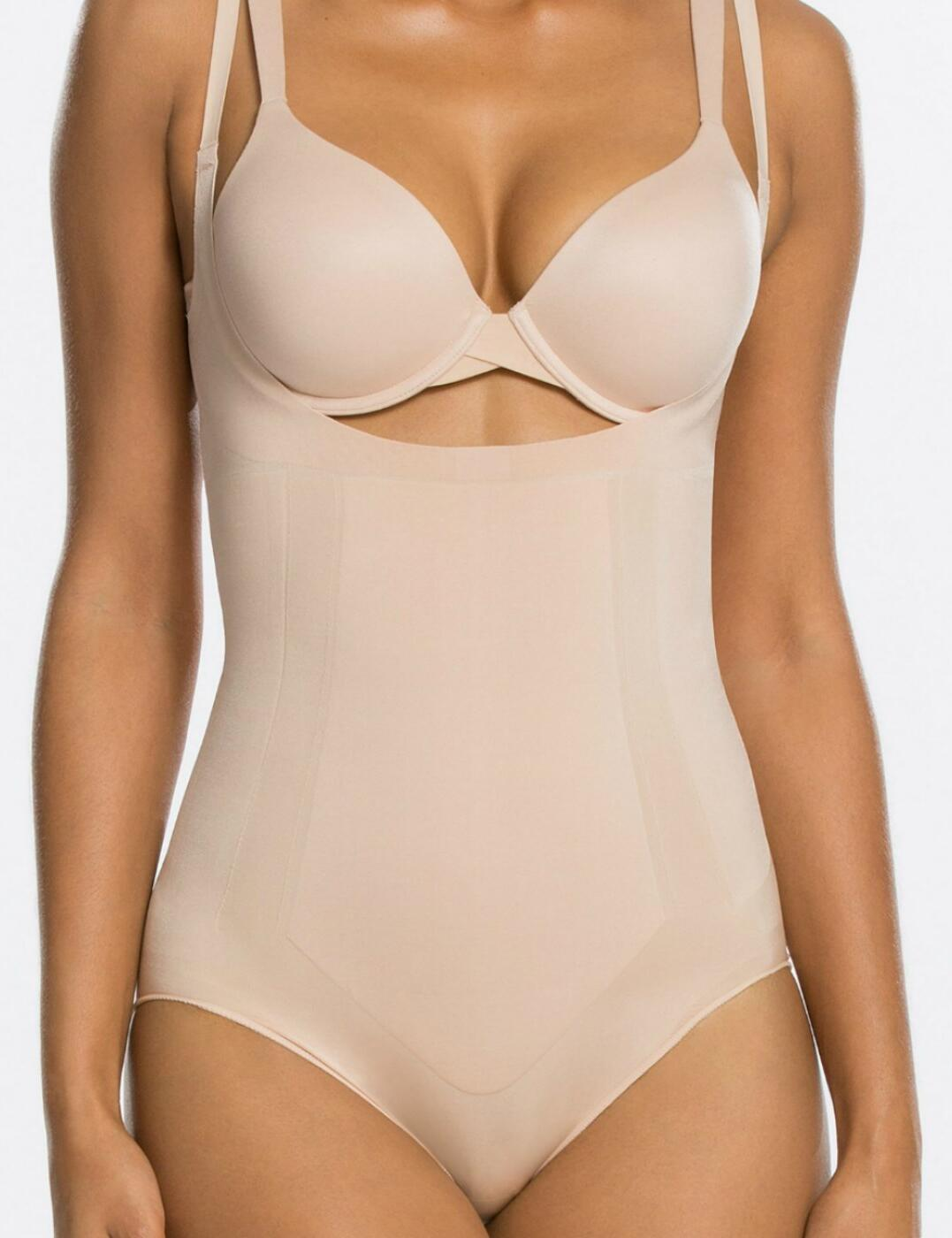 10129R Spanx Oncore Open Bust Panty Bodysuit - 10129R Soft Nude