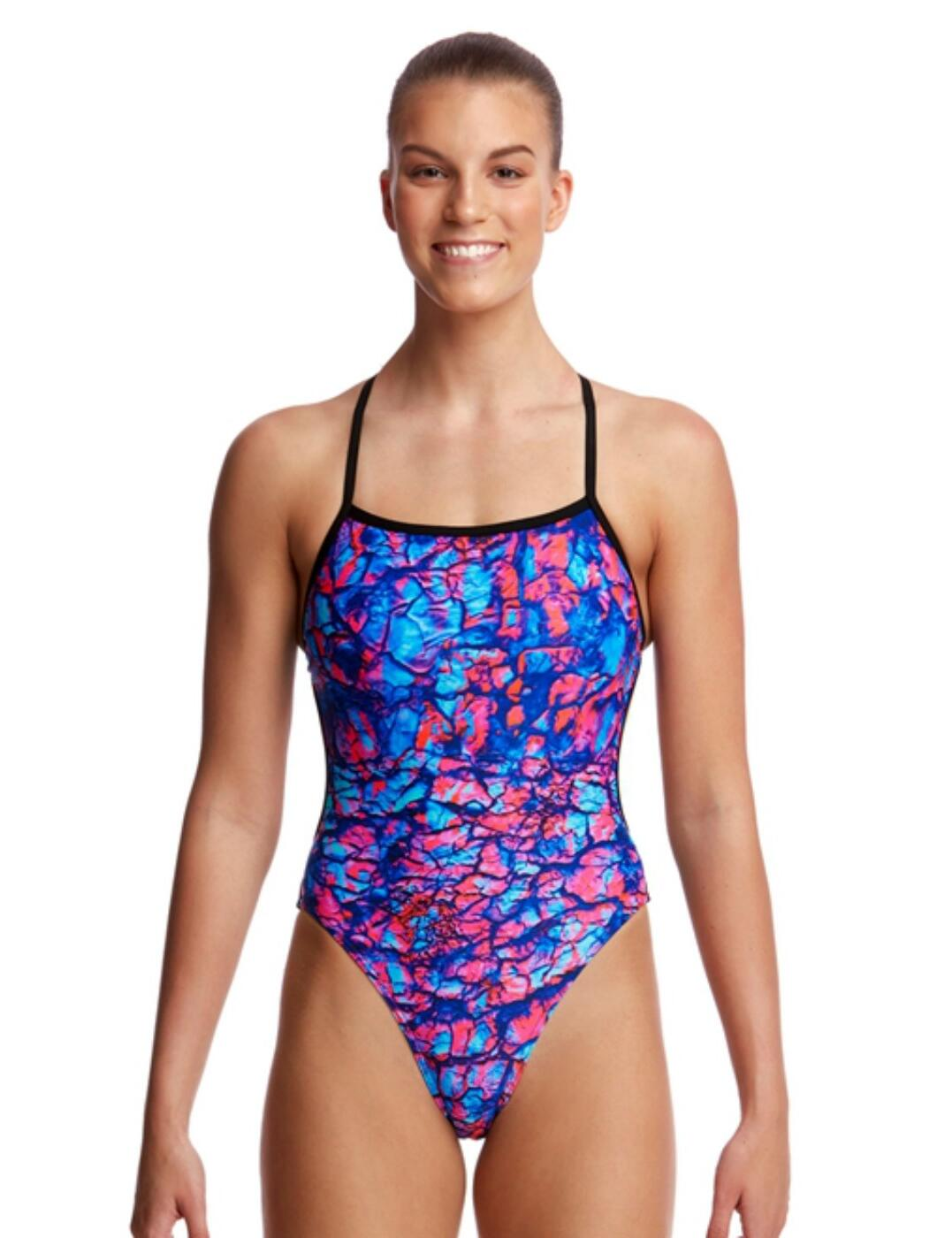 FKS010L02203 Funkita Ladies Rusted Twisted One Piece Swimsuit - FKS010L02203 Rusted