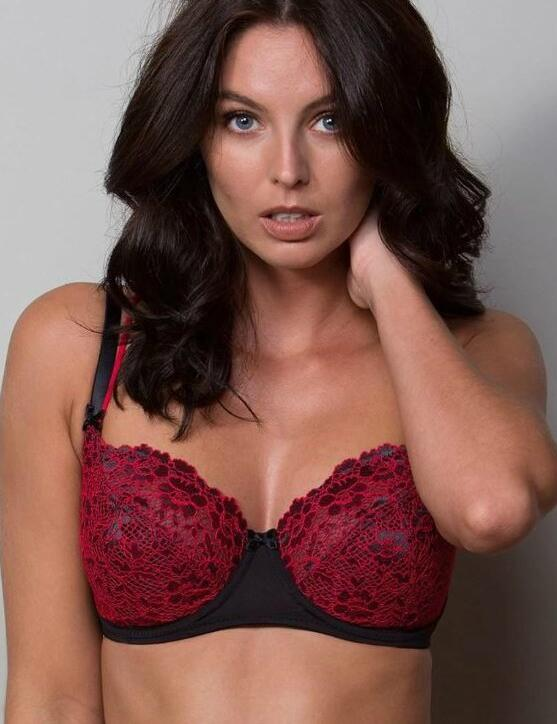 44002 Pour Moi Fever Underwired Bra - 44002 Black/Red