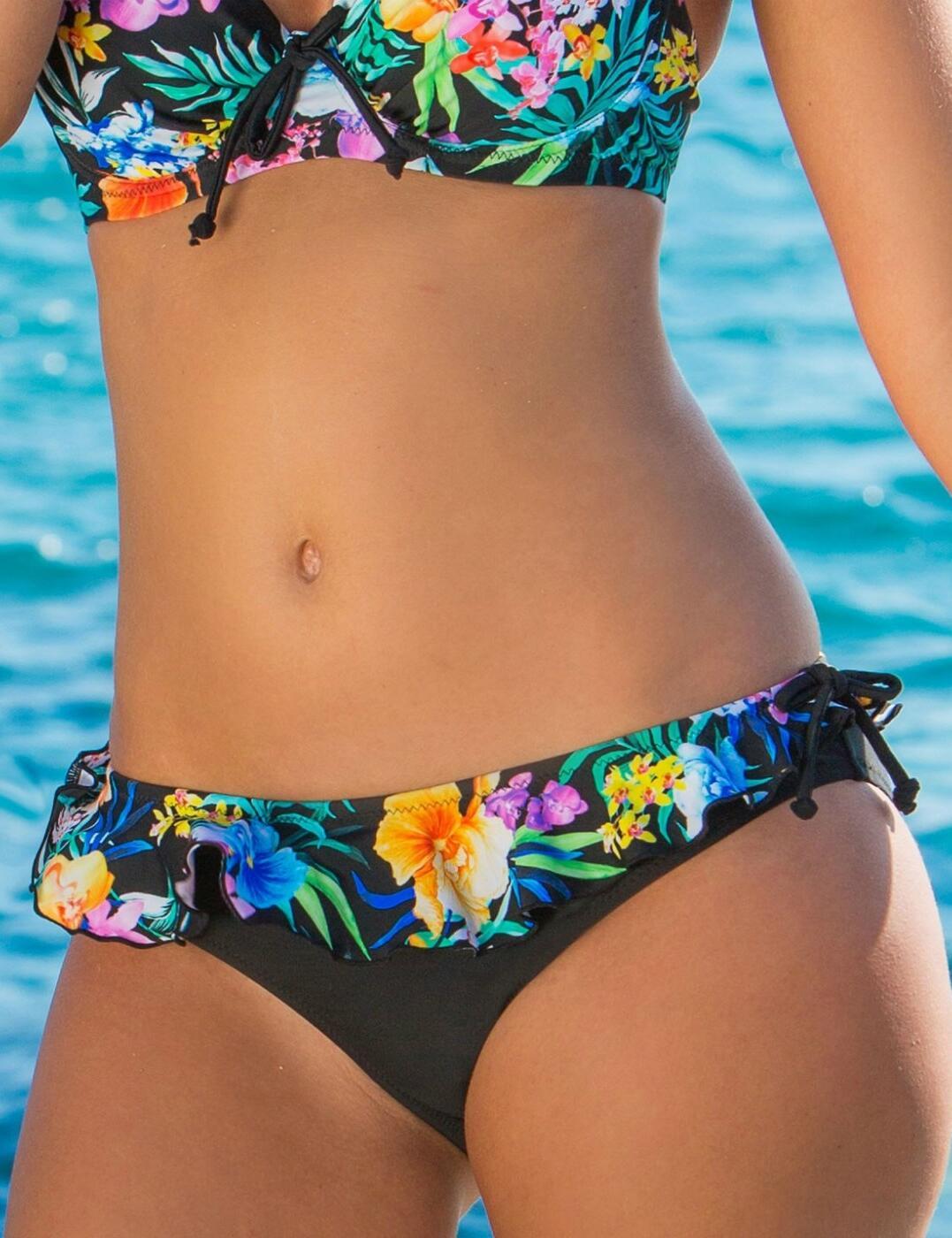 14104 Pour Moi Miami Brights Frill Bikini Brief - 14104 Multi