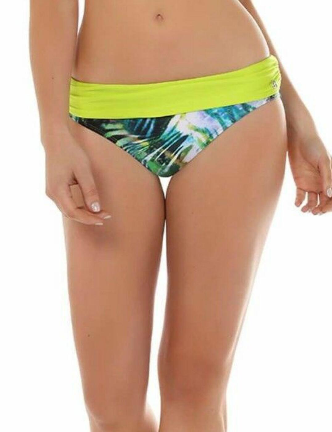 13-1350 Seaspray Monteverde Fold Waist Bikini Brief - 13-1350 Green/Blue