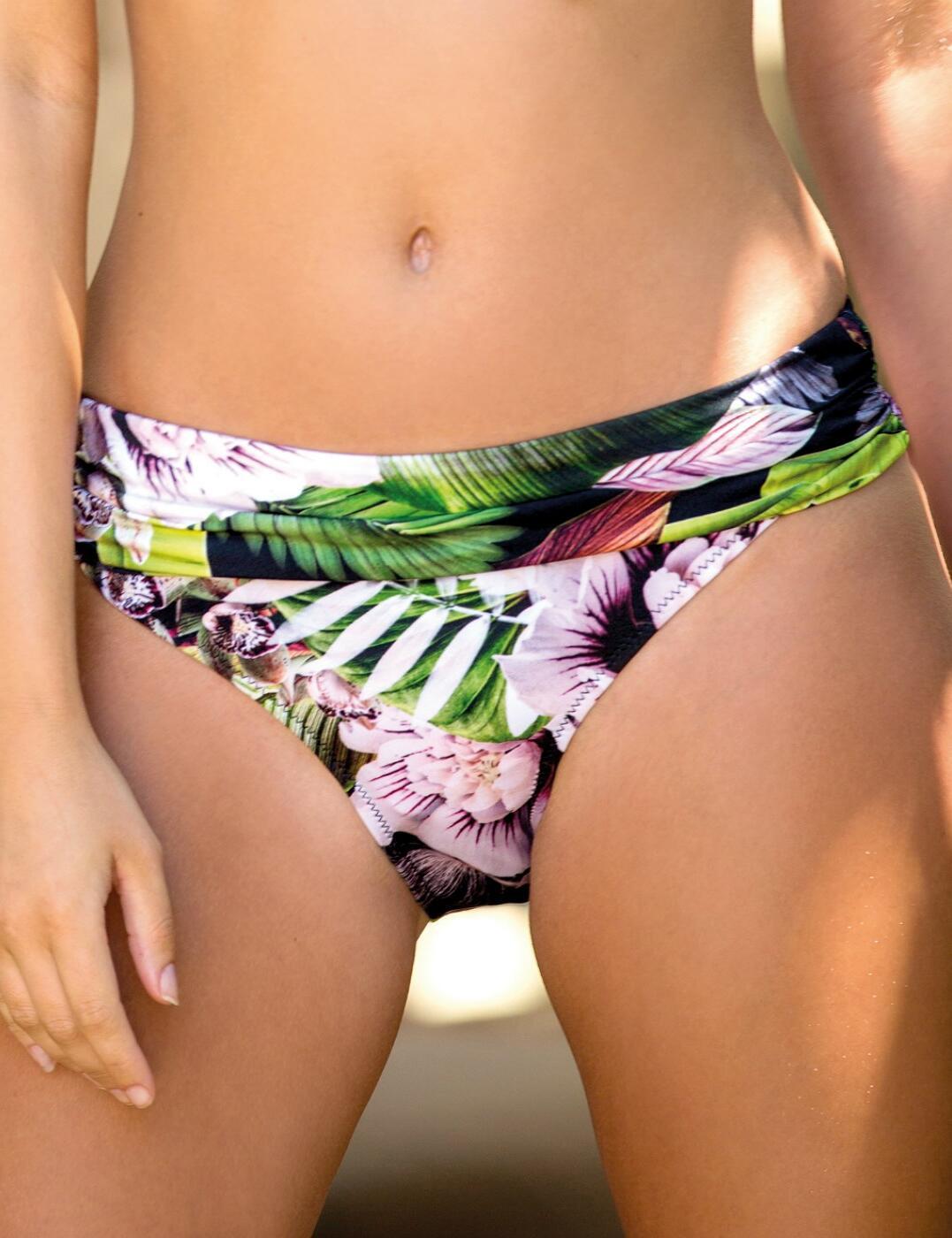 12903 Pour Moi Orchid Luxe Fold Over Bikini Brief - 12903 Multi Print