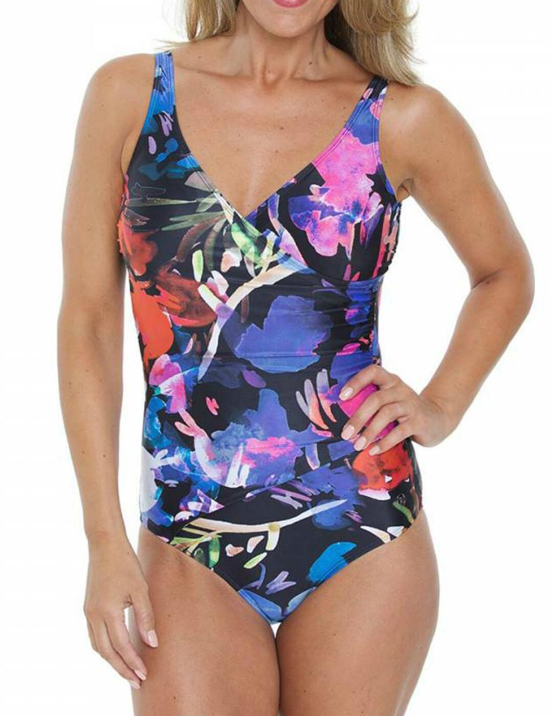 16-2067 SeaSpray Rio Wrap Strap Swimsuit - 16-2067 Black/Multi