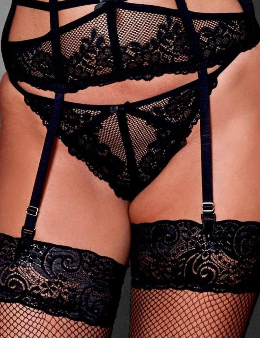50004 Pour Moi Strapped G String - 50004 Black