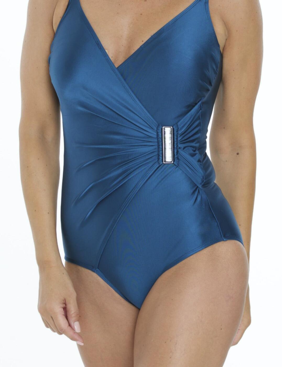 05-2112 SeaSpray Casablanca Side Buckle Swimsuit  - 05-2112 Teal