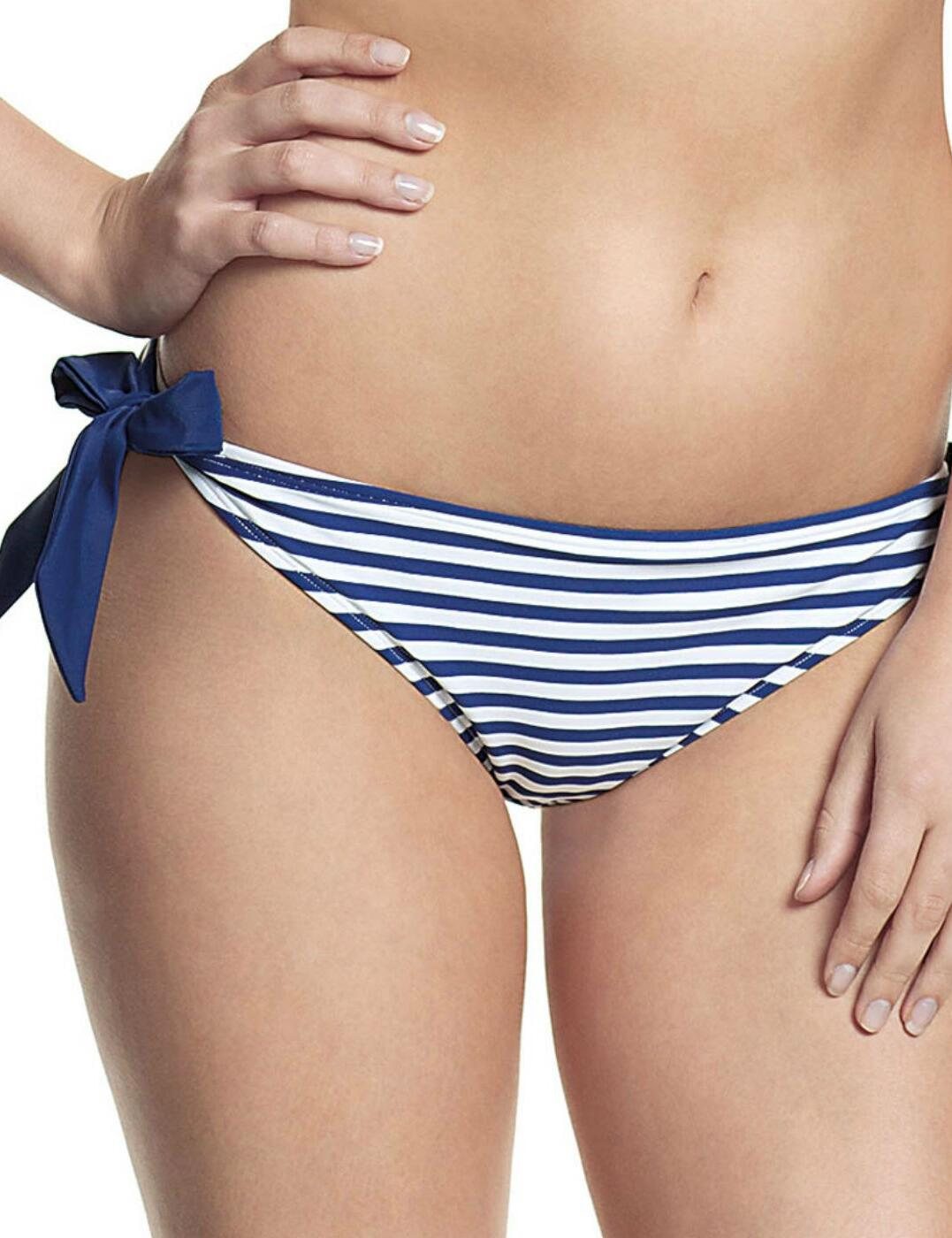 CW0068 Cleo Lucille Tie Side Bikini Brief - CW0068 Nautical Print
