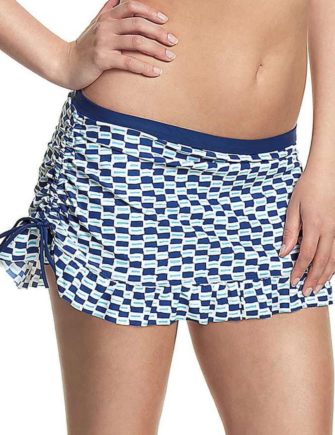 CW0066 Cleo Lucille Bikini Skirt - CW0066 Nautical Print