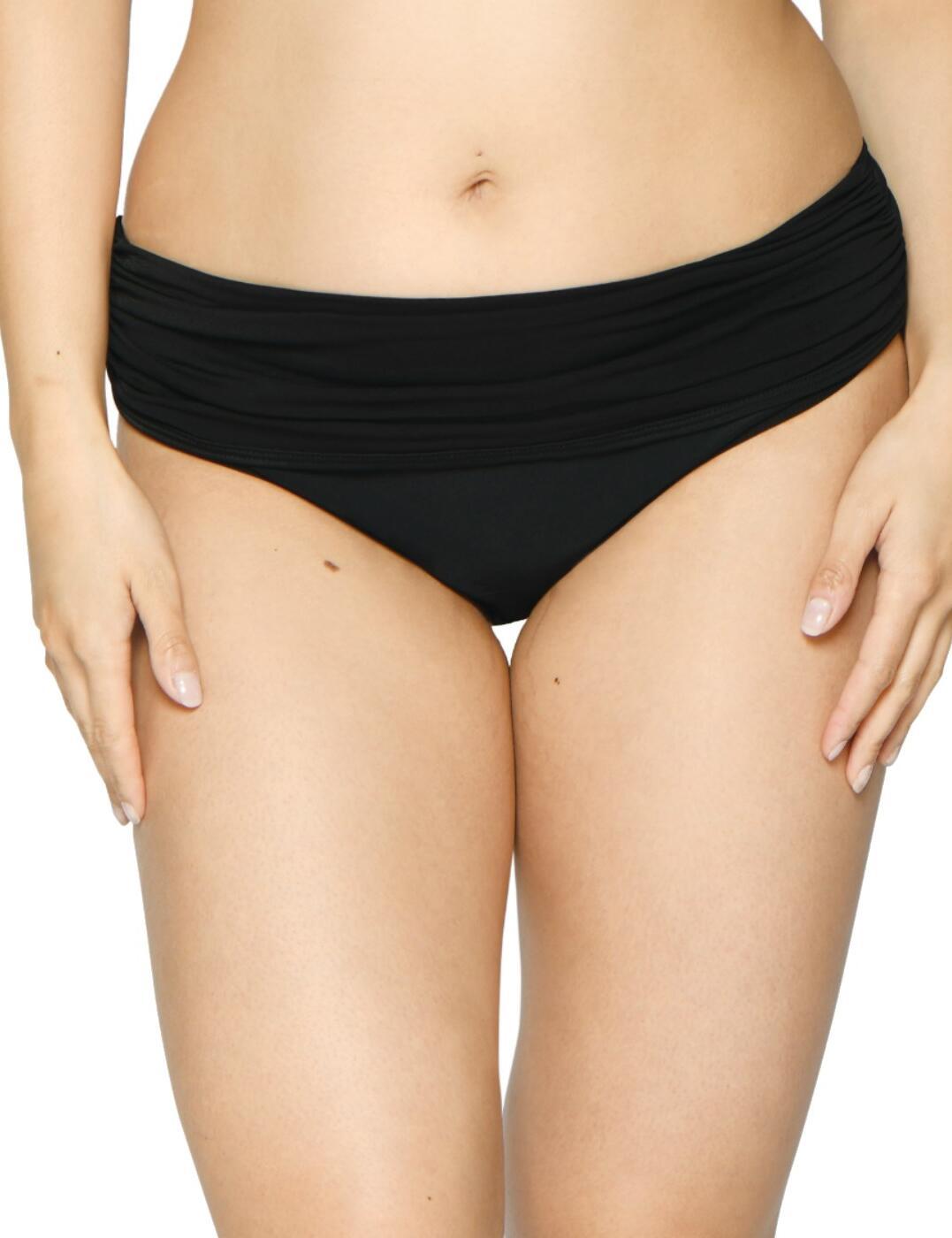 CS001512 Curvy Kate Sheer Class Deep Fold-Over Bikini Brief - CS001512 Black