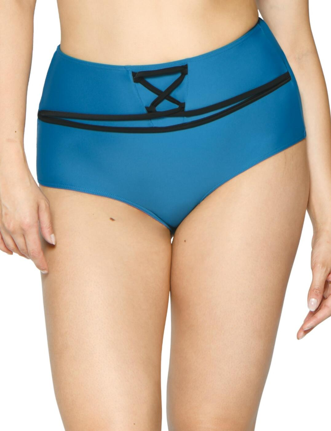 CS002505 Curvy Kate Rock The Pool High Waist Bikini Brief - CS002505 Petrol
