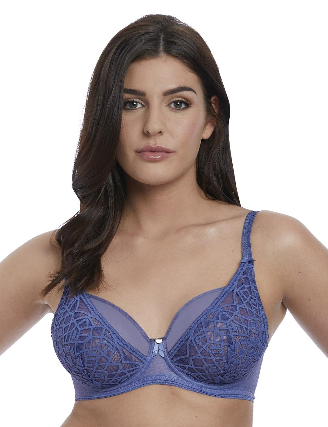 5011 Freya Soiree Lace High Apex Bra  - 5011 Denim