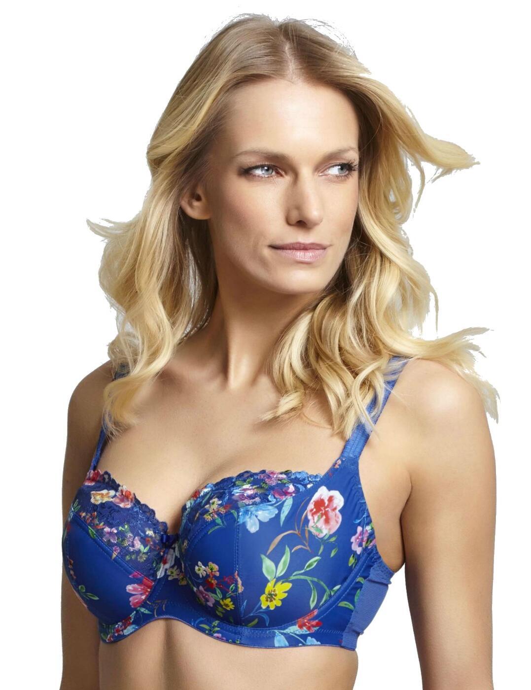9261 Panache Thea Balcony Bra - 9261 Cobalt/Floral