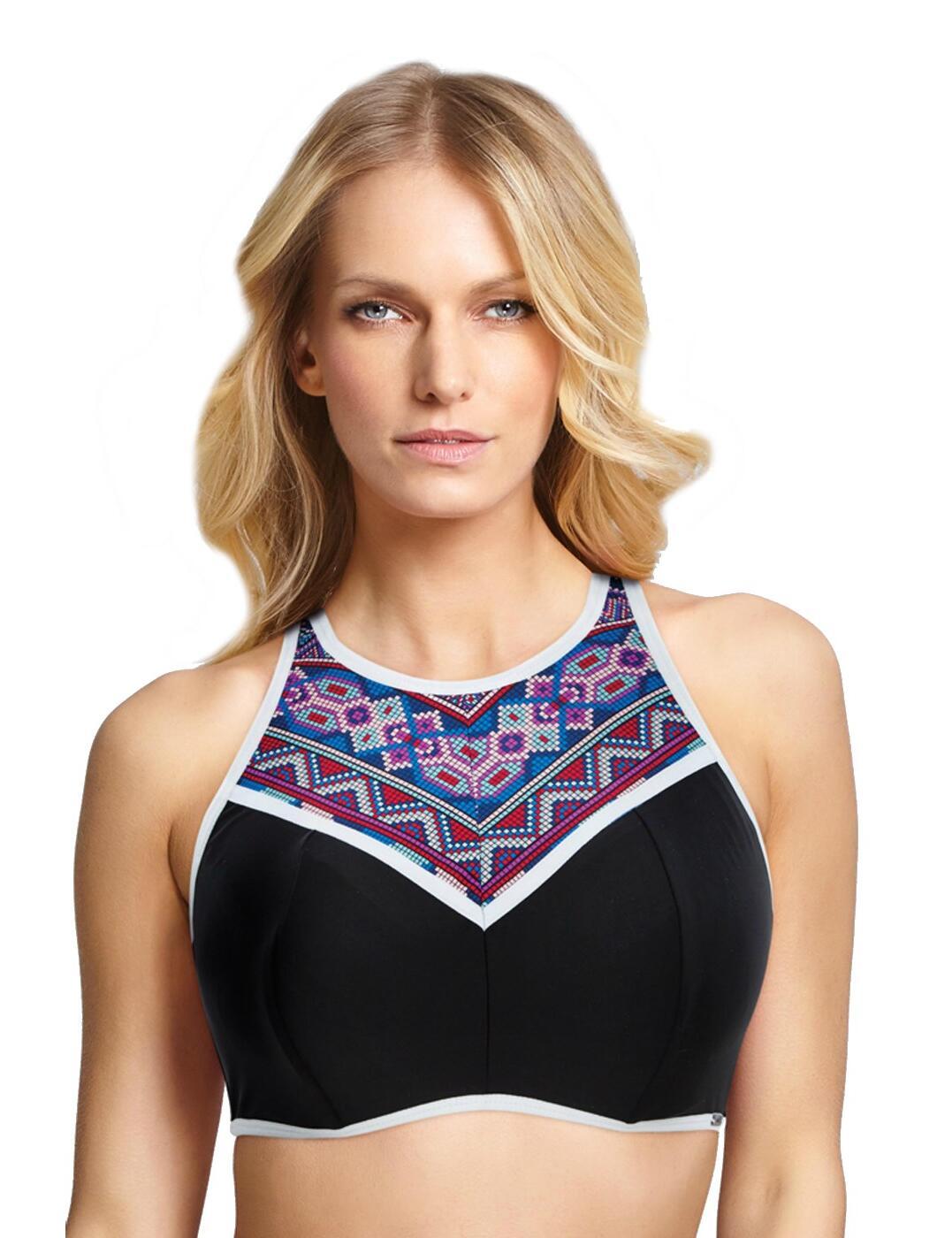 SW1282 Panache Ayanna Crop Bikini Top - SW1282 Blue/Multi