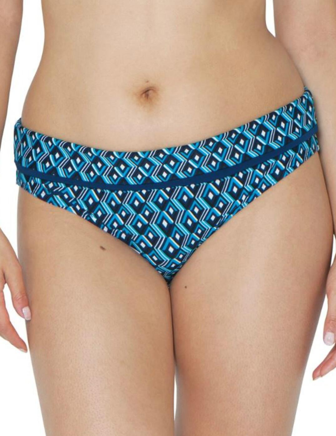 150503 Curvy Kate Wanderlust Fold Bikini Brief - 150503 Blue Mix