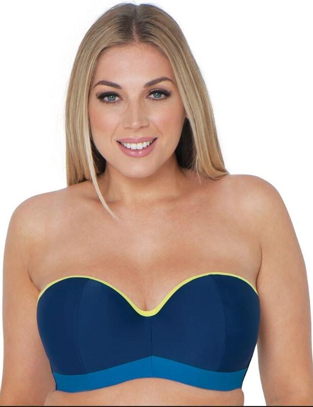 CS4641 Curvy Kate Maya Bandeau Bikini Top - CS4641 Blue Mix