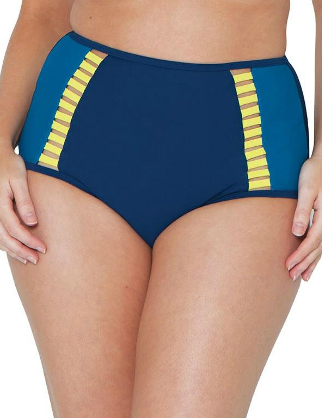 CS4665 Curvy Kate Maya High Waist Bikini Brief - CS4665 Blue Mix