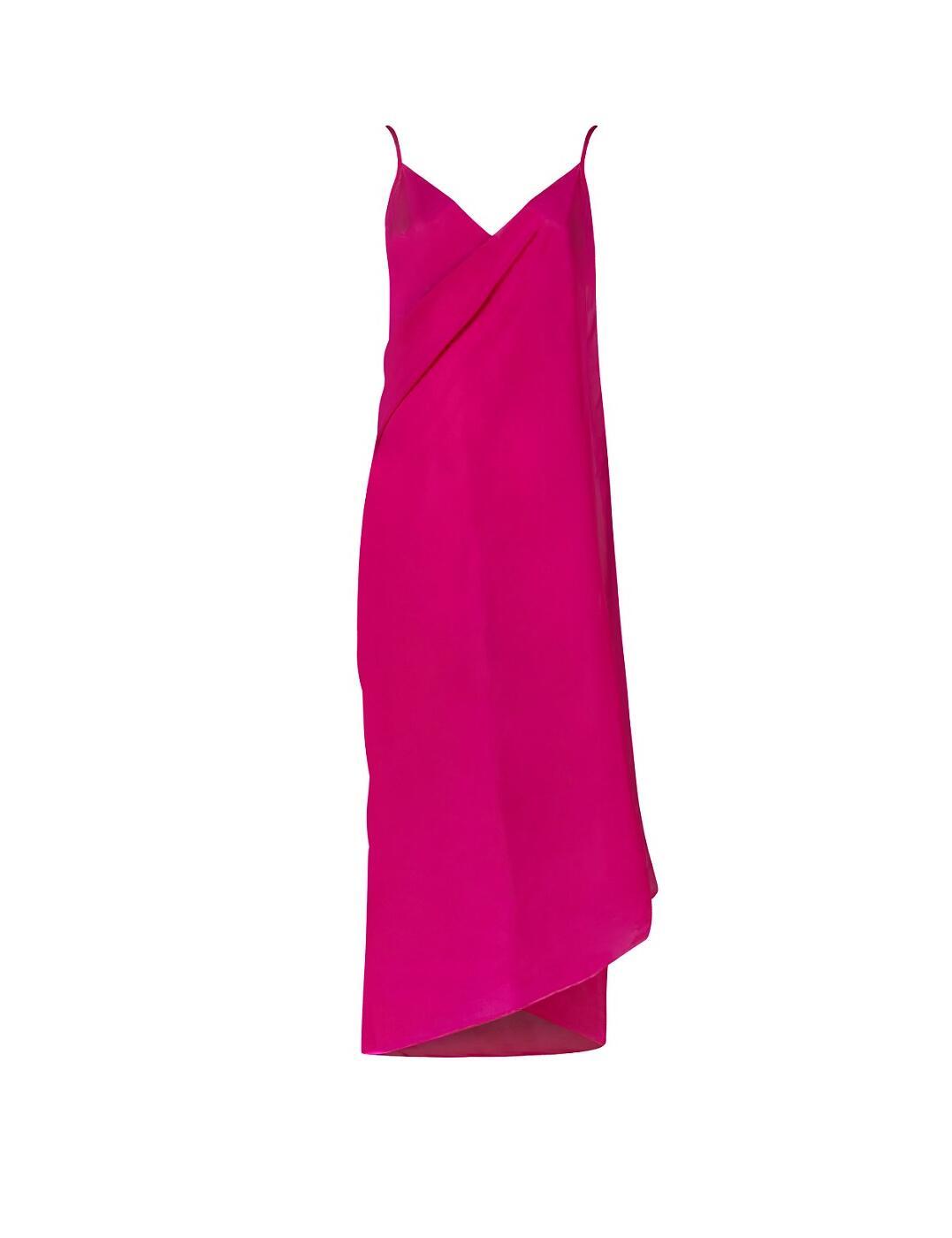 36-3262 SeaSpray Just Colour Plain Sarong Dress - 36-3262 Pink