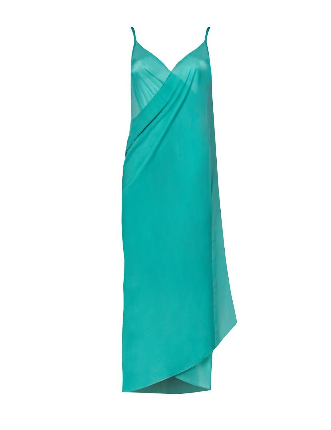 36-3262 SeaSpray Just Colour Plain Sarong Dress - 36-3262 Emerald