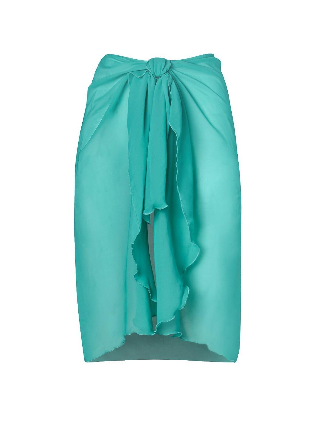 36-3810 SeaSpray Just Colour Plain Waterfall Sarong - 36-3810 Emerald