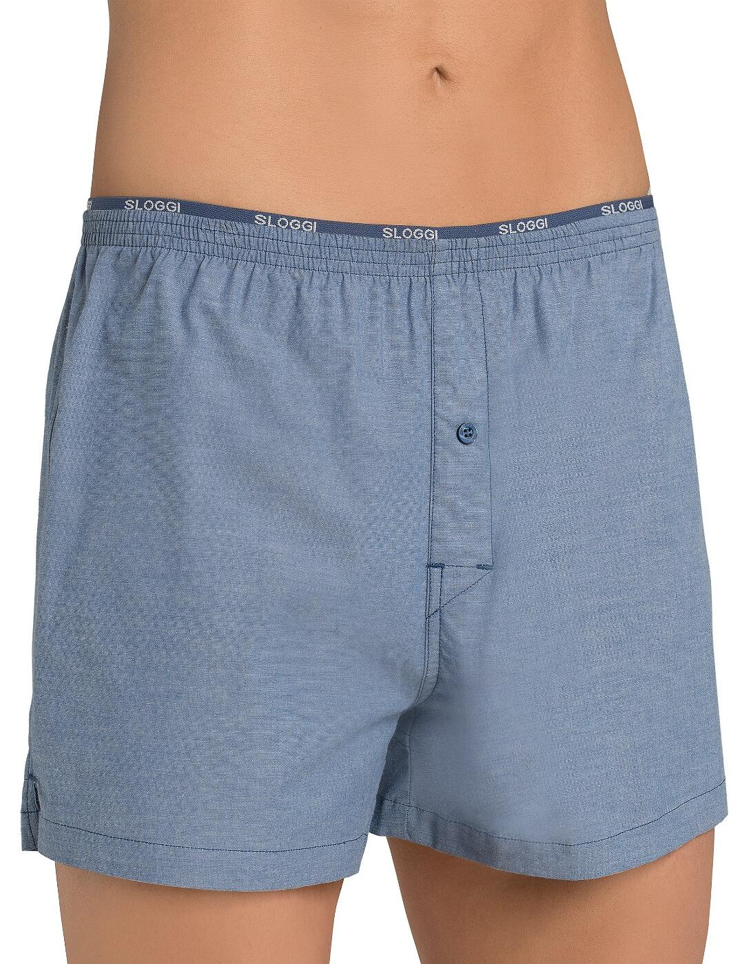 10154631 Sloggi Men Freedom Stretch Boxer Short - 10154631 Midnight Blue