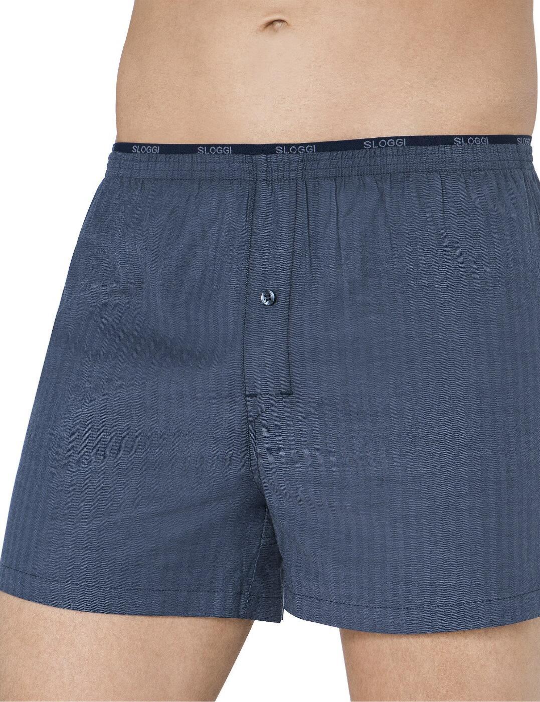 10154631 Sloggi Men Freedom Stretch Boxer Short - 10154631 Blue/Light Combination