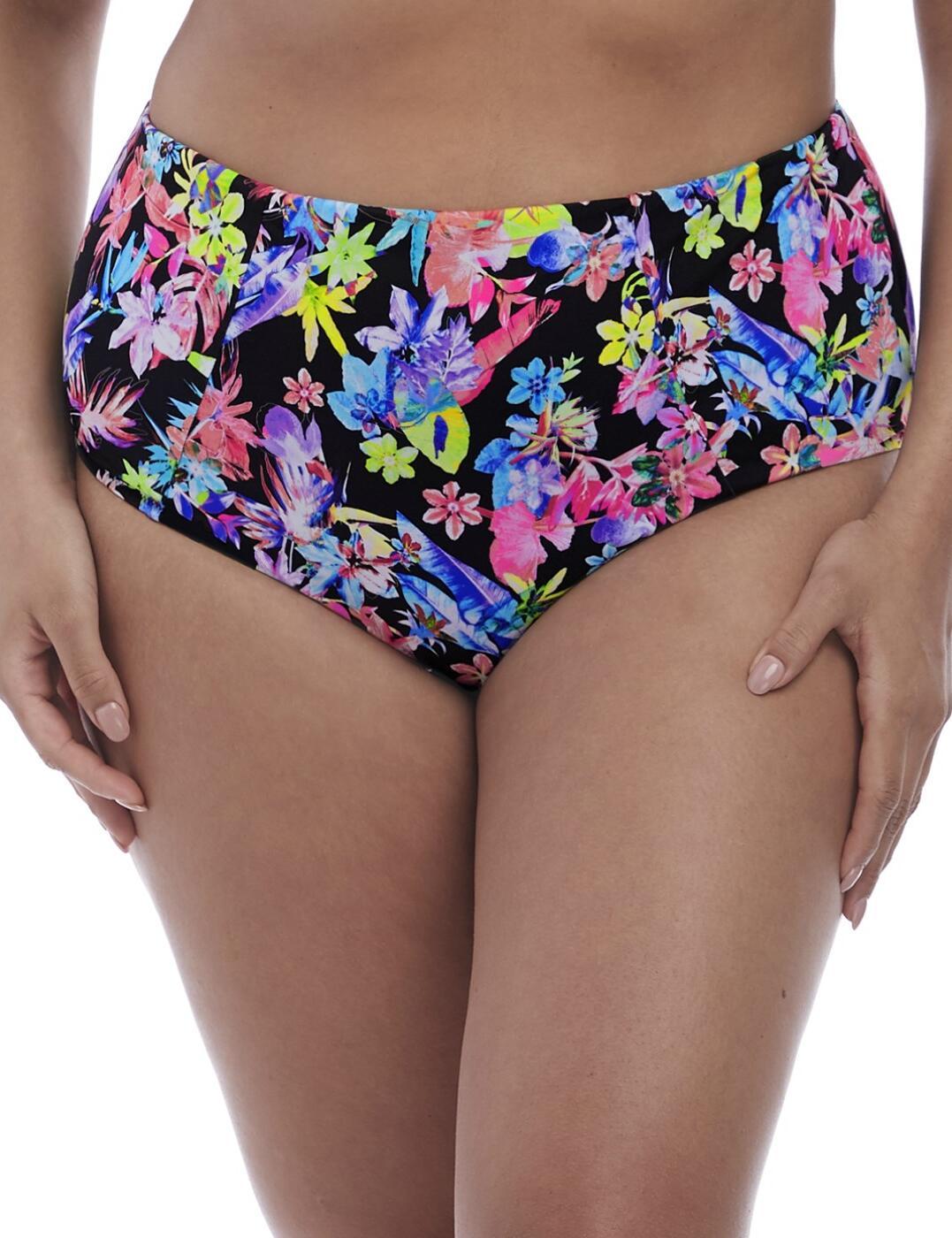 7175 Elomi Electroflower Classic Bikini Brief - 7175 Black