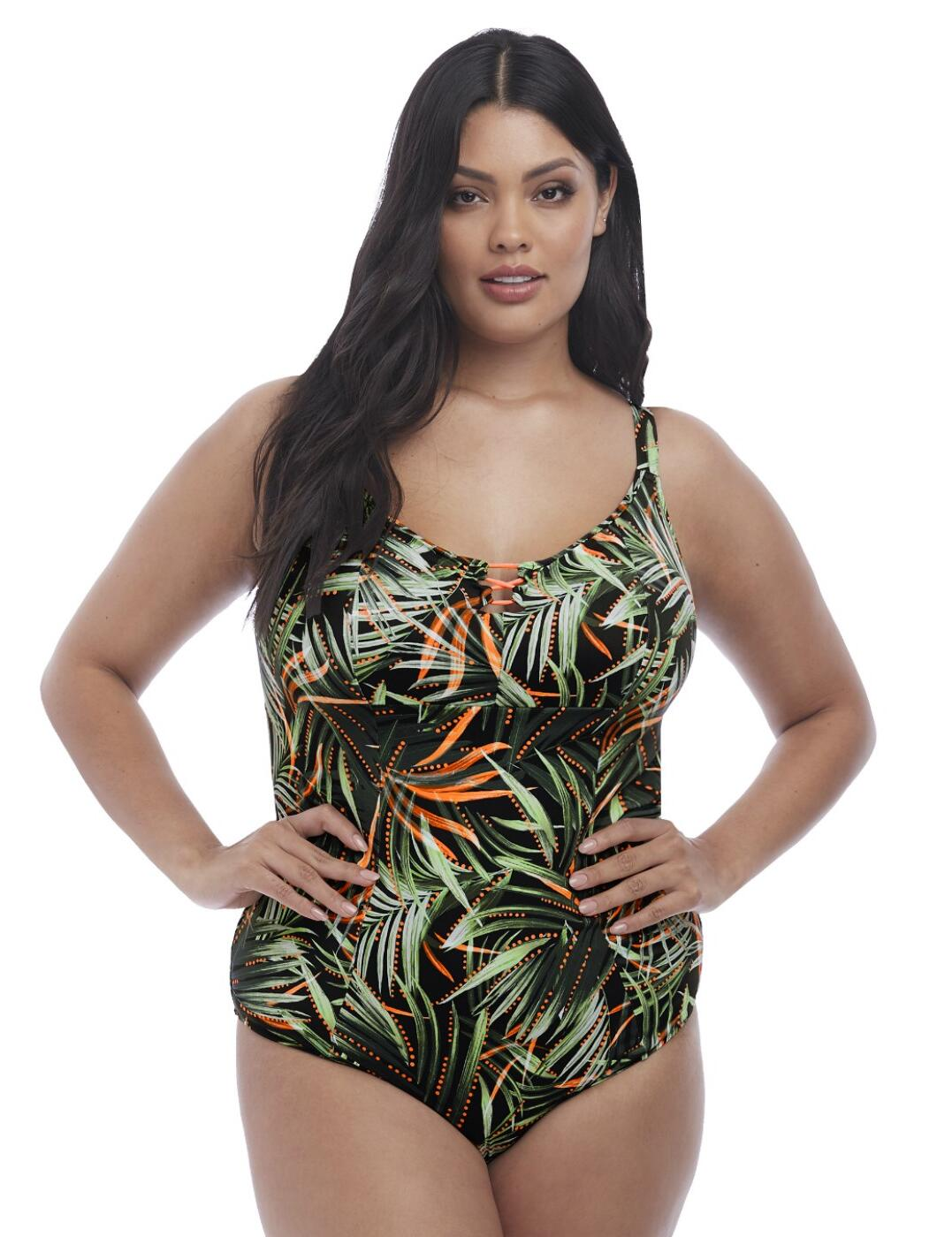 7160 Elomi Amazonia Moulded Swimsuit - 7160 Khaki Print