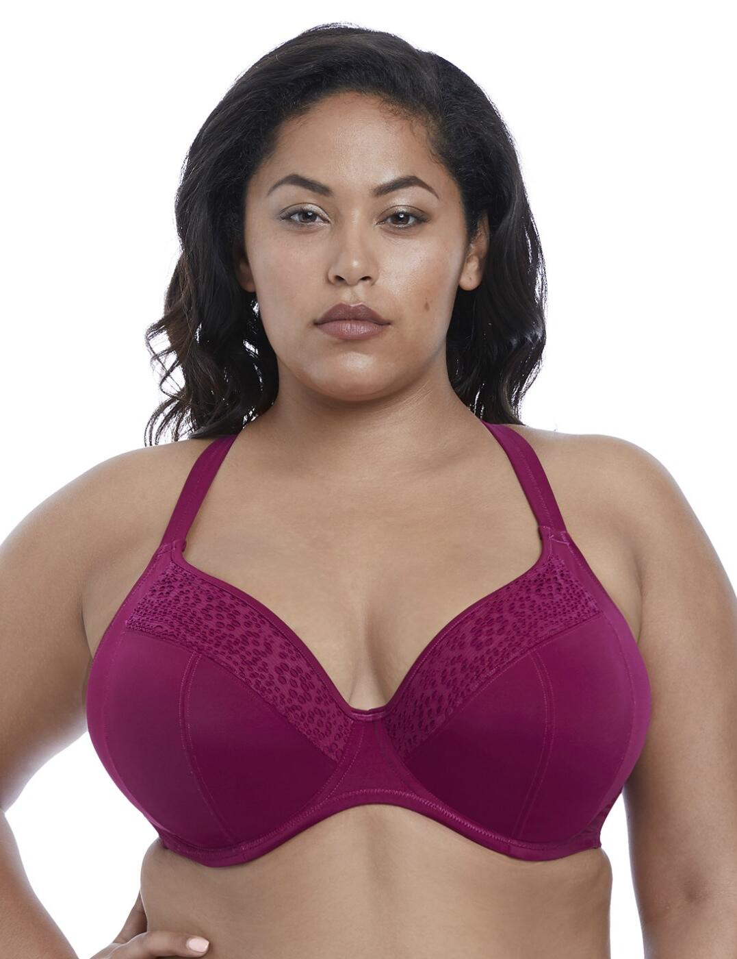 7536 Elomi Indie Plunge Multiway Bikini Top - 7536 Berry