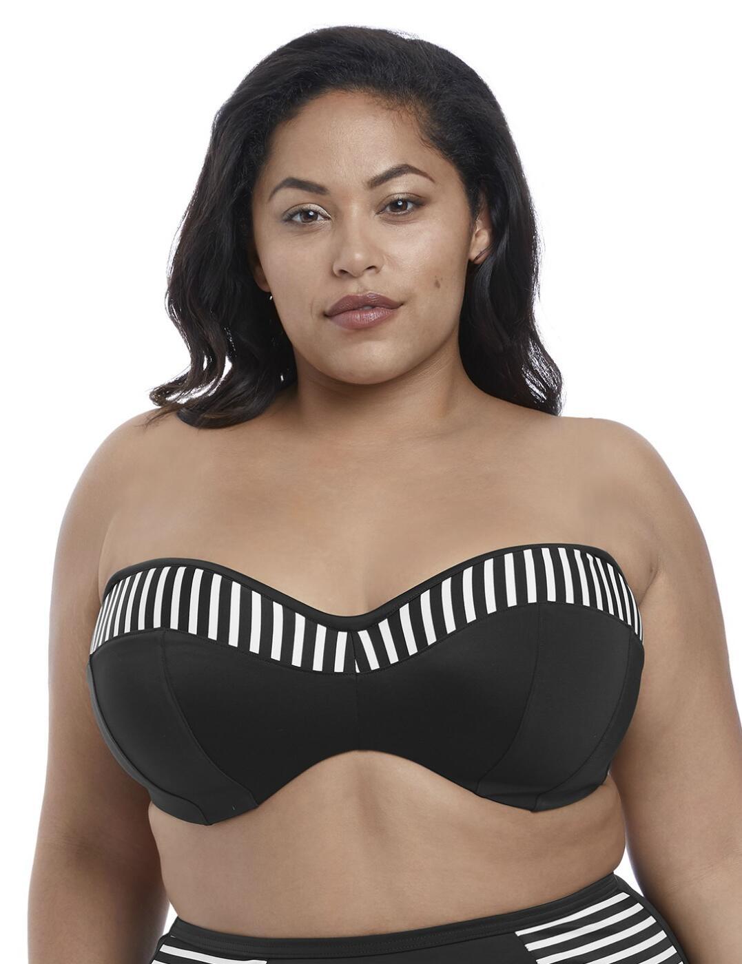 7633 Elomi Malibu Days Underwired Bandeau Bikini Top - 7633 Black