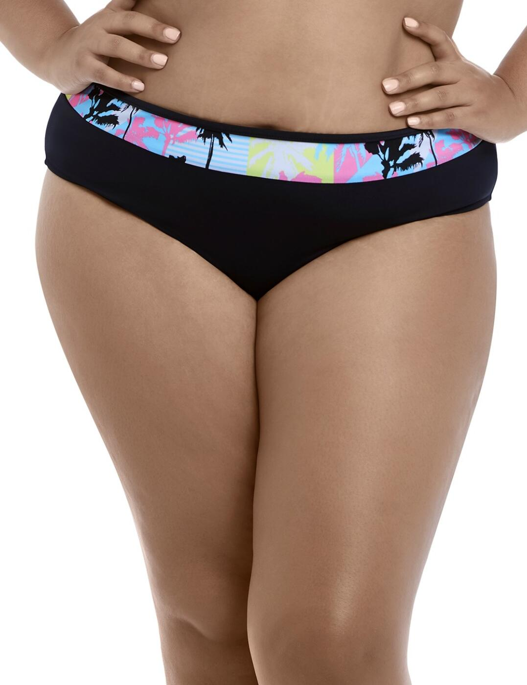 7634 Elomi Malibu Days Mid Rise Bikini Brief - 7634 Black