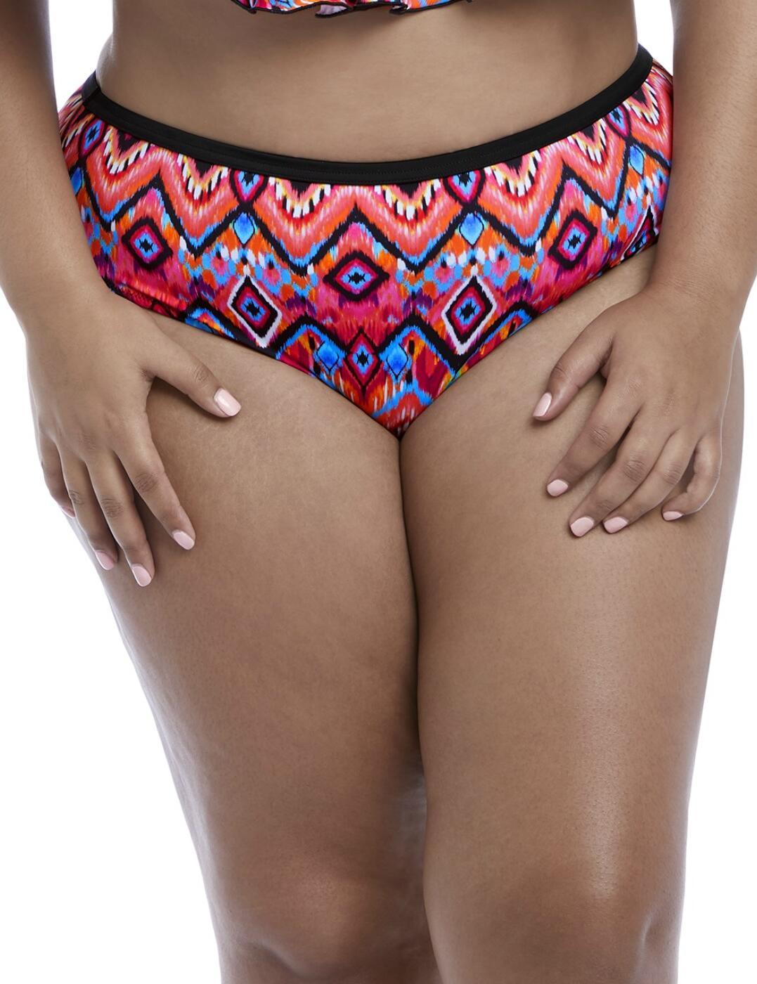 7575 Elomi Tribe Vibe Mid Rise Bikini Brief - 7575 Flame