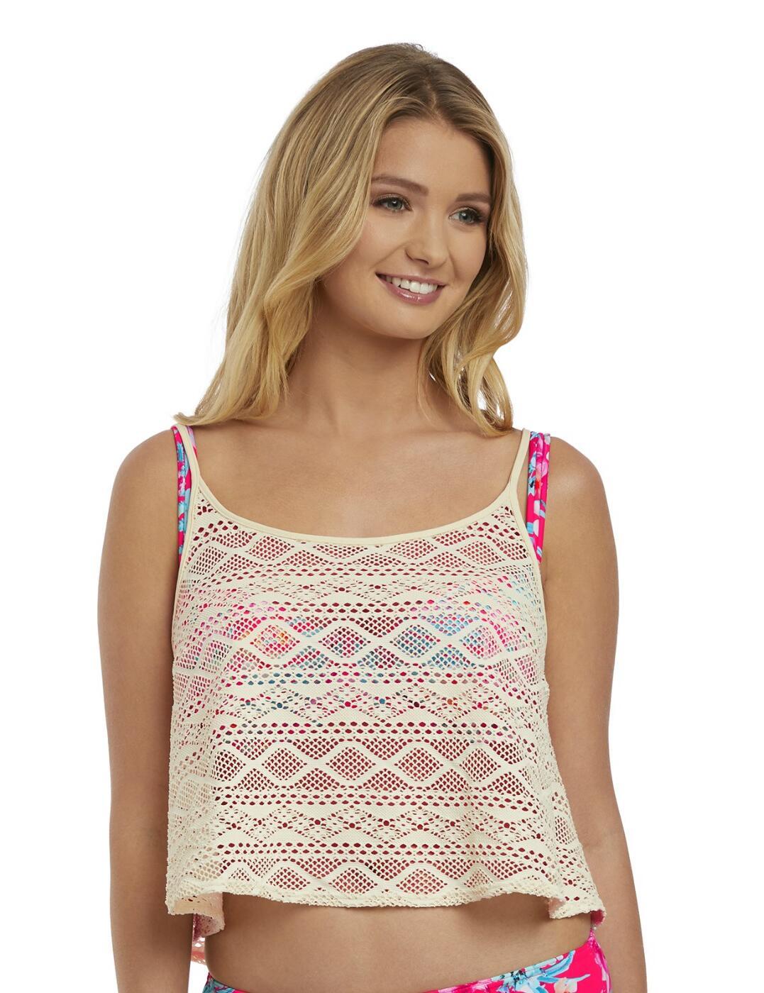 2888 Freya Wild Sun Crochet Top - 2888 Linen