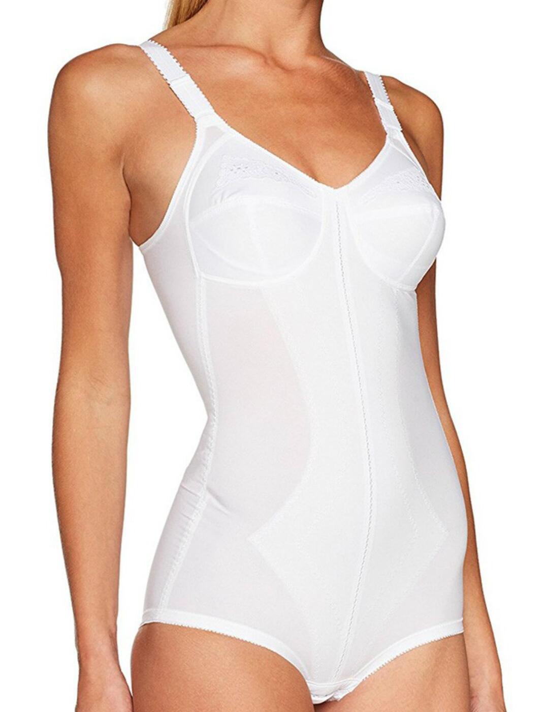 P2858 Playtex I Can't Believe It's A Girdle All In One Bodysuit - P2858 White