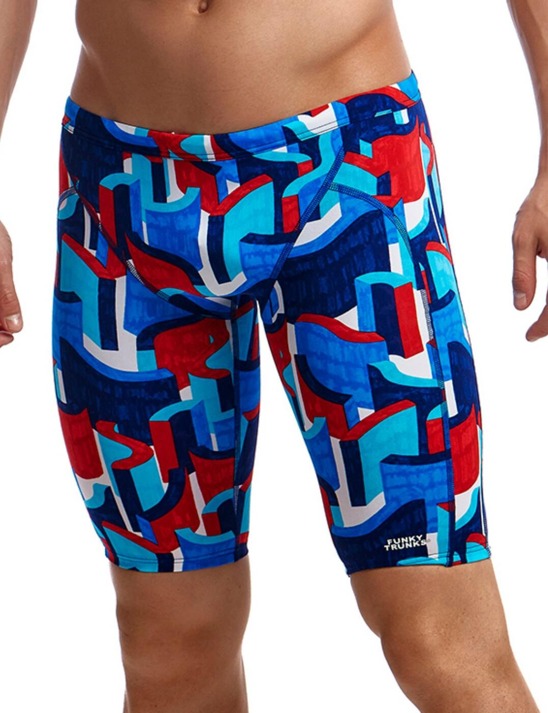 FT37M Funky Trunks Mens Training Jammers - FT37M02305 Block Rock