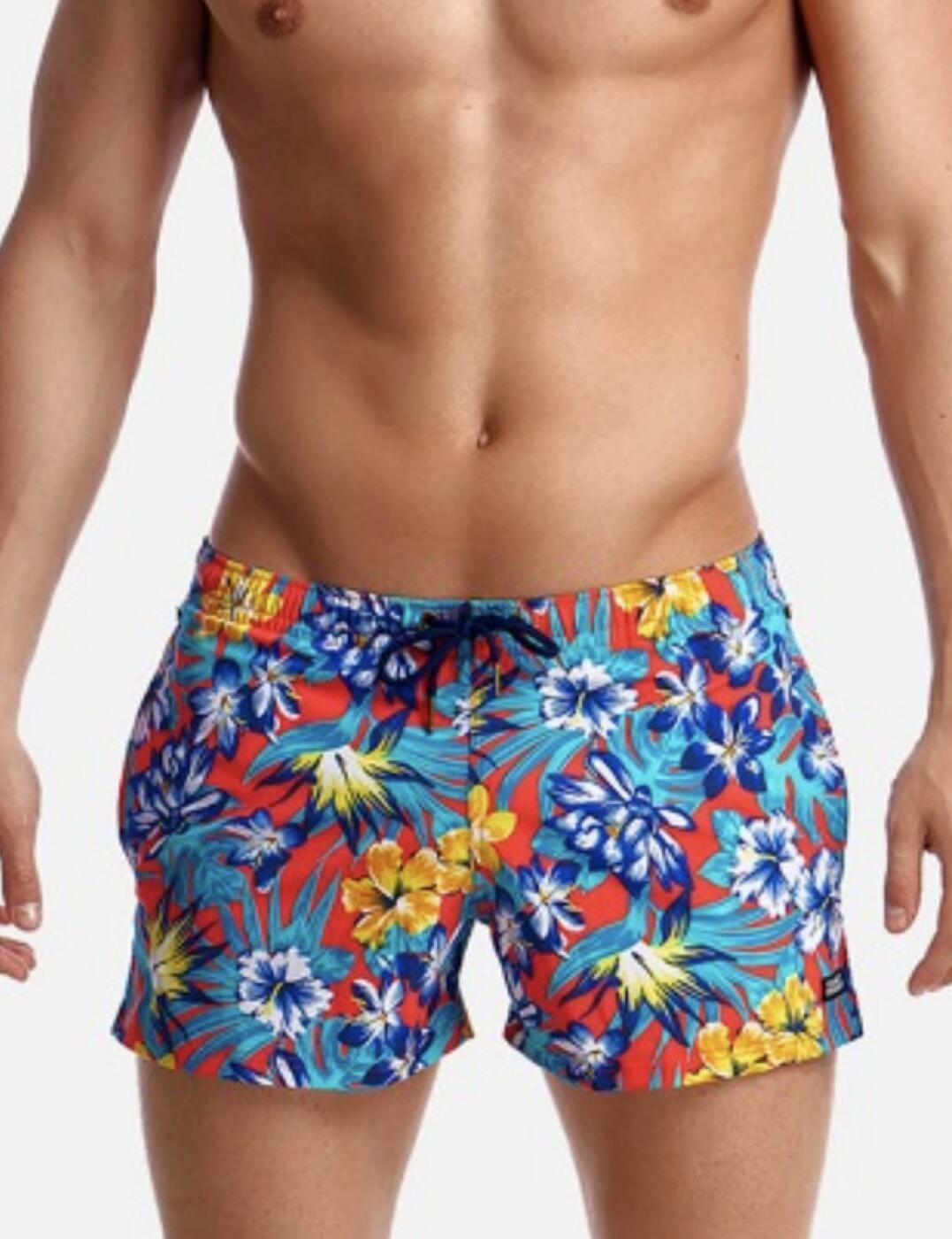 FT40M Funky Trunks Mens 'Shorty Shorts' Swim Short - FT40M02303 Aloha From Hawaii